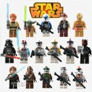 Star Wars 16 PIECES  Mini Figures Building Blocks Minifigures Block Build