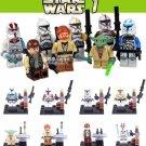 Star Wars 8pc Mini Figures Building Blocks Minifigures Block Build Set 1 STANDARD PLUS SHIPPING