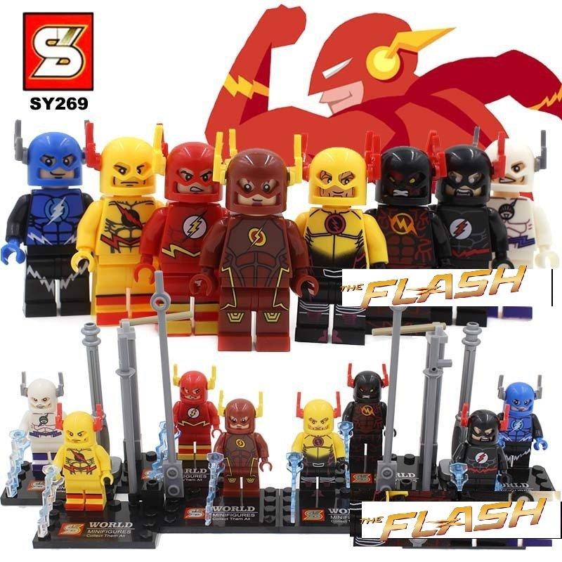 The Flash DC Marvel 8pc Mini Figures Building Blocks Minifigures Block Build Set $2 SHIPPING  ENDS SOON