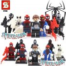 Spiderman Marvel 8pc Mini Figures Building Blocks Minifigures Block Build Set 1 $2 shipping Limited Time