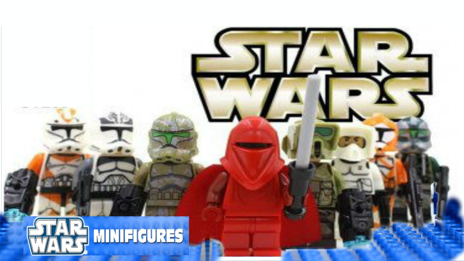 Star Wars 8pc Storm Troopers Red Clone Mini Figures Building Blocks Minifigures Block Build SALE