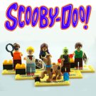 Scooby Doo Mini Figures 6pc Building Blocks Minifigures Block Build Compatible