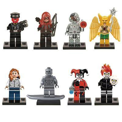 Minifigure Popular Villan Superhero 8pc Mini Figures Building Blocks Minifigures Block Build BLOWOUT PRICE