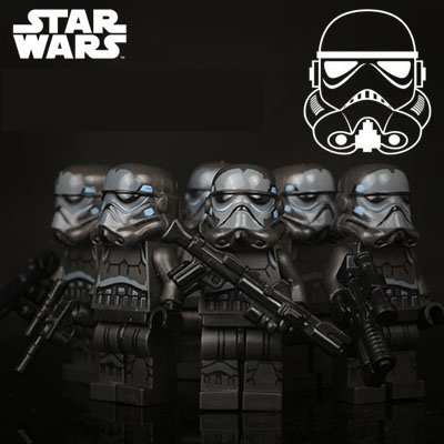 Star Wars 6pc Storm Troopers Black Clone Mini Figures Building Blocks Minifigures Block Build SALE