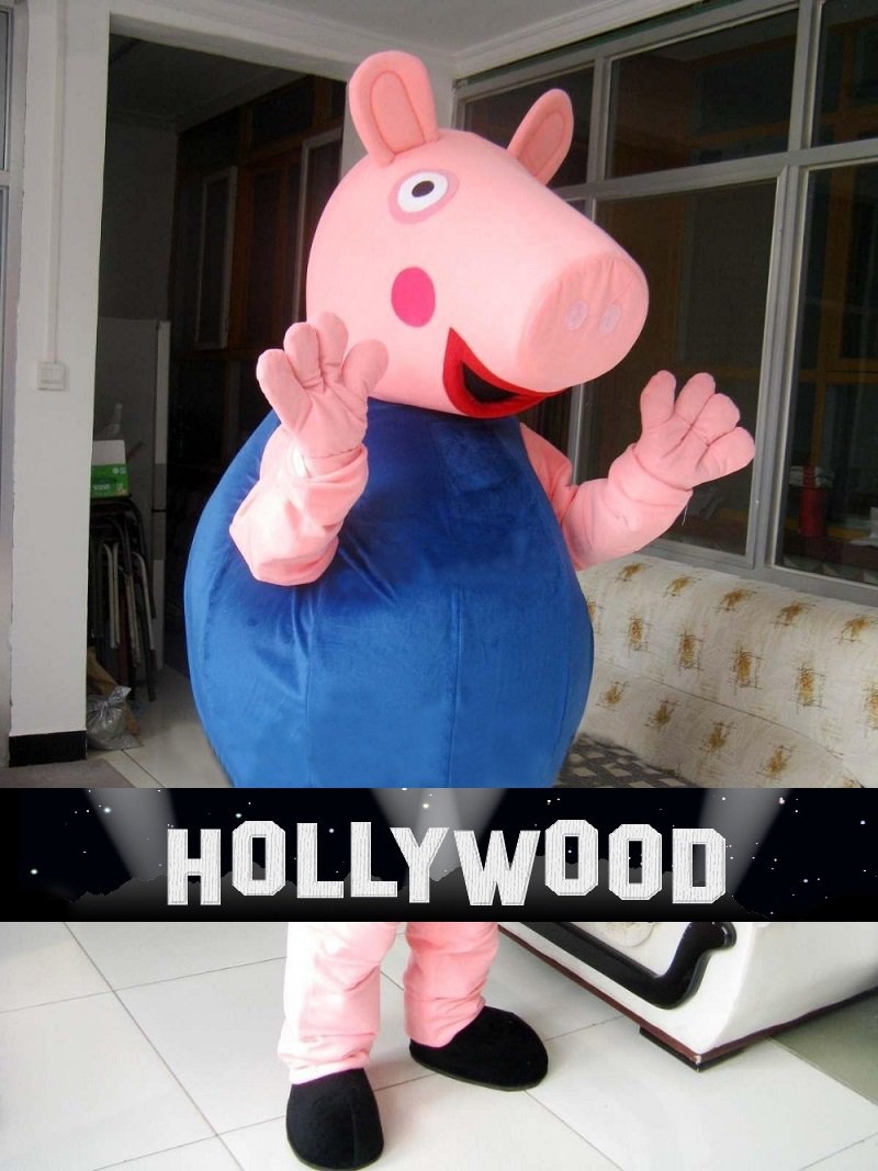 Blue George Peppa Pig Mascot Character Adult Costume NEW 2016 VERSION