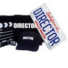 Directors Theme Gift Set Hollywood Gift Pack Shirt, Hat, Clapboard, lic plate