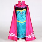 Elsa Frozen Princess Dress Costume Royal Queen Dress WITH Cape CHILD 2T TO SIZE 15