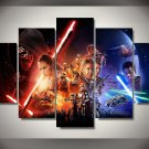 Star Wars Force Awakens 5pc Wall Decor Framed Oil Painting