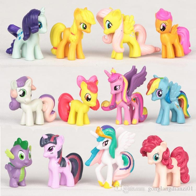 My Little Pony 12pc Figure Set Adorable Colorful Pony