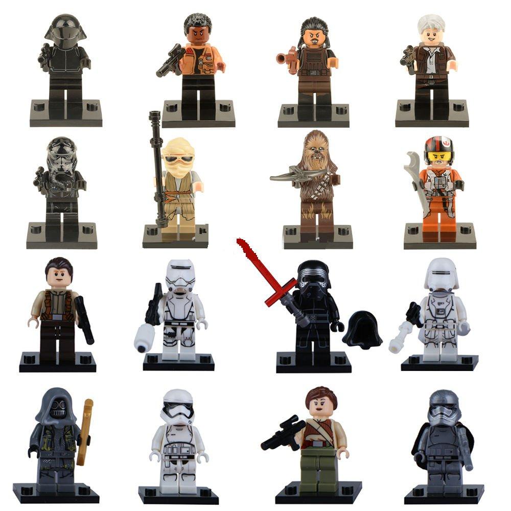 Star Wars Force Awakens 16pc Mini Figures for Building Blocks Minifigures Block Build on SALE
