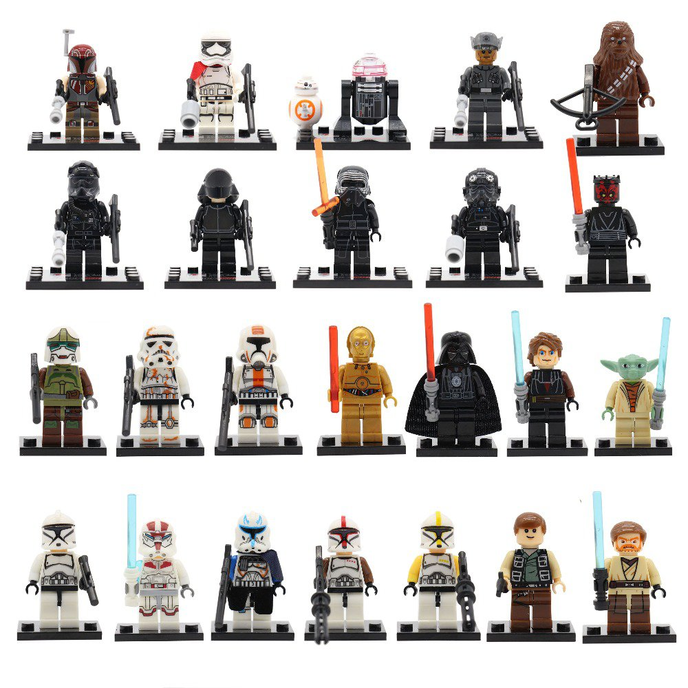 Star Wars Force Awakens 24pc Mini Figures for Building Blocks Minifigures Compatible Block Build on SALE