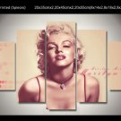 Marilyn Monroe Framed 5pc Oil Painting Wall Decor 2 Hollywood Movie star Legend