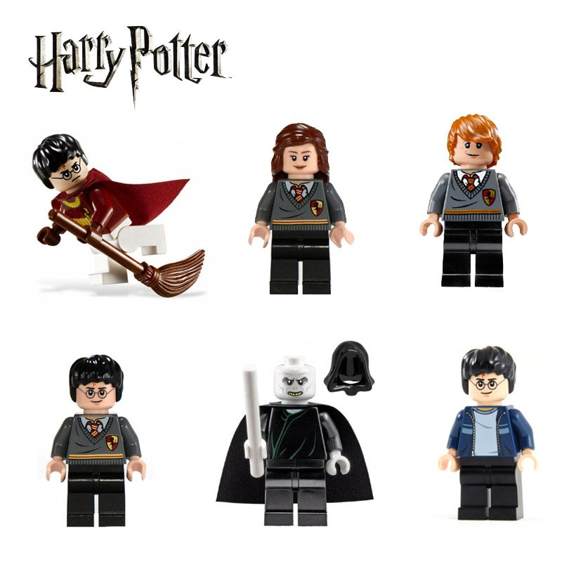 Harry Potter 6pc Mini Figures Building Blocks Minifigures Block Build Set