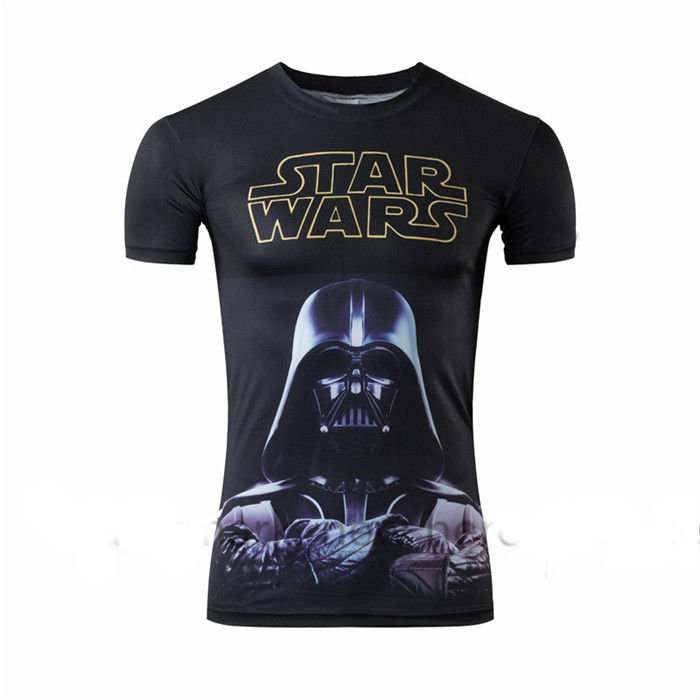 Star Wars Darth Vader Compressed Short sleeve fitting shirts Adult Size