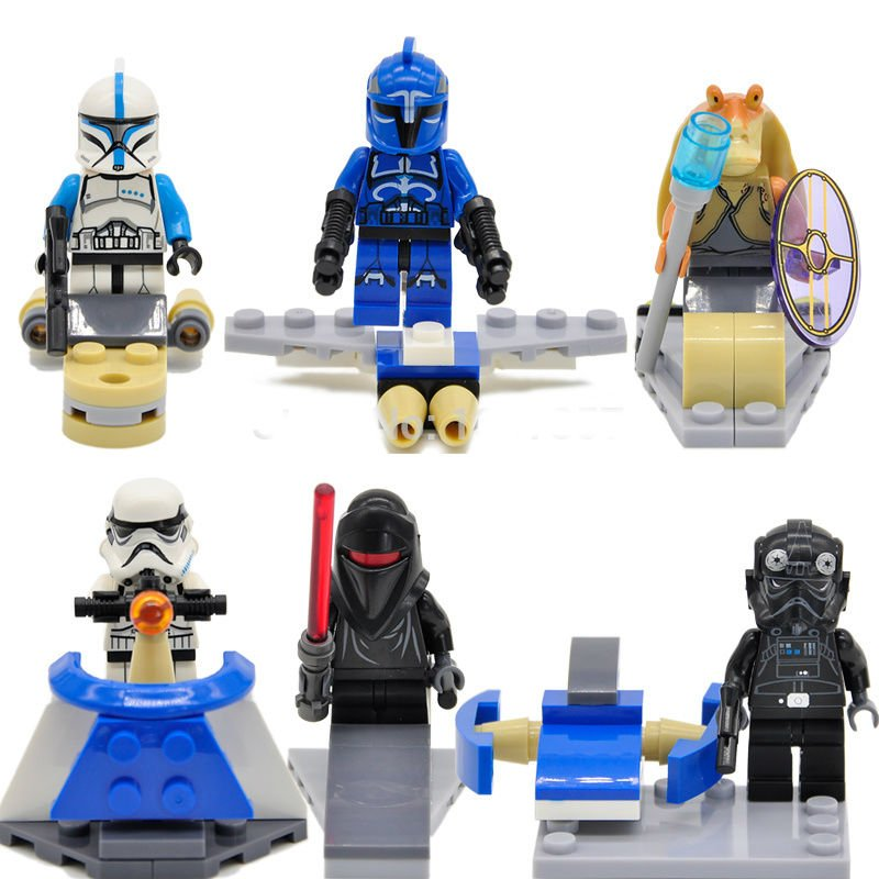 Star Wars Storm Troopers 6pc Mini Figures Building Blocks Minifigures Block Build Set