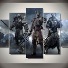 The Witcher Wild Hunt Gaming 5pc Wall Decor Framed Oil Painting