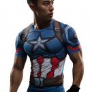 Captain America New Design Armoured Compressed Superhero Long Sleeve Shirt Marvel DC S TO 3XL NEW