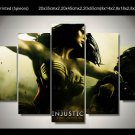 Wonder Woman Injustice Framed 5pc Oil Painting Wall Decor Comics Superhero