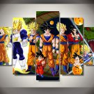Dragon Ball Z Framed 5pc Oil Painting Wall Decor Cartoon