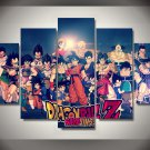 Dragon Ball Z Framed 5pc Oil Painting Wall Decor 2 Cartoon