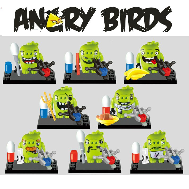 Angry Birds 8pc Mini Figures Building Blocks Minifigures Block Build Set 3