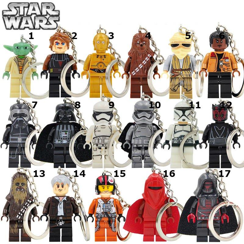 Star Wars 1pc Mini Figures Building Blocks Minifigures Keychain 17 choices