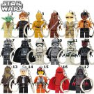 Star Wars 1pc Mini Figures Building Blocks Minifigures Keychain 17 choices