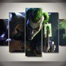 The Joker Villan Batman DC Comics 5pc Wall Decor Framed Oil Painting Comic Art HD Superhero