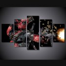 Deadpool Gaming Character 5pc Wall Decor Framed  Oil Painting #3 Superhero