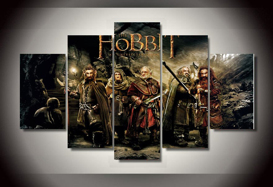 The Hobbit Movie 5pc Oil Painting Wall Decor  HD