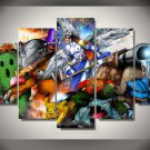Pokemon Framed 5pc Oil Painting Wall Decor Digimon  HD Cartoon Gaming
