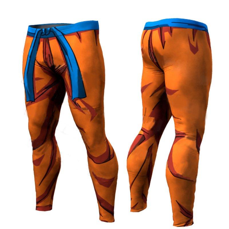 Dragon Ball Z Men Compression Work Out Goku Leggings Style 1