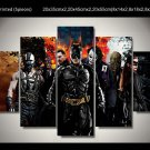 Dark Knight Batman Character Movie 5pc Framed Canvas Oil Painting Wall Decor  HD Superhero