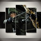 Green Arrow 5pc Wall Decor Framed Oil Painting Superhero Marvel DC