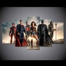 Justice League Framed 5pc Oil Painting Wall Decor Comics DC Marvel HD Superhero