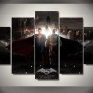 Batman vs Superman Movie 5pc Framed Canvas Oil Painting Wall Decor 2  HD