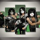 Kiss Band 5pc Wall Decor Framed Oil Painting Hollywood Music Artist
