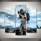 Star Wars Movie Storm Trooper Clone Scene 5pc Wall Decor Framed Oil Painting  HD
