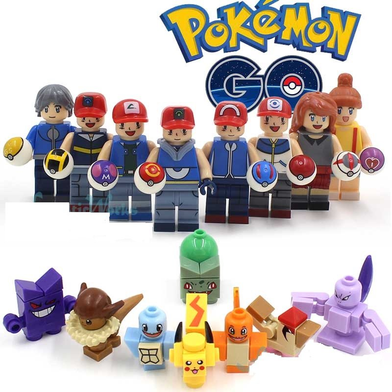 Pokemon Go Lego Mini Figures Building Blocks Minifigures Block Build Set