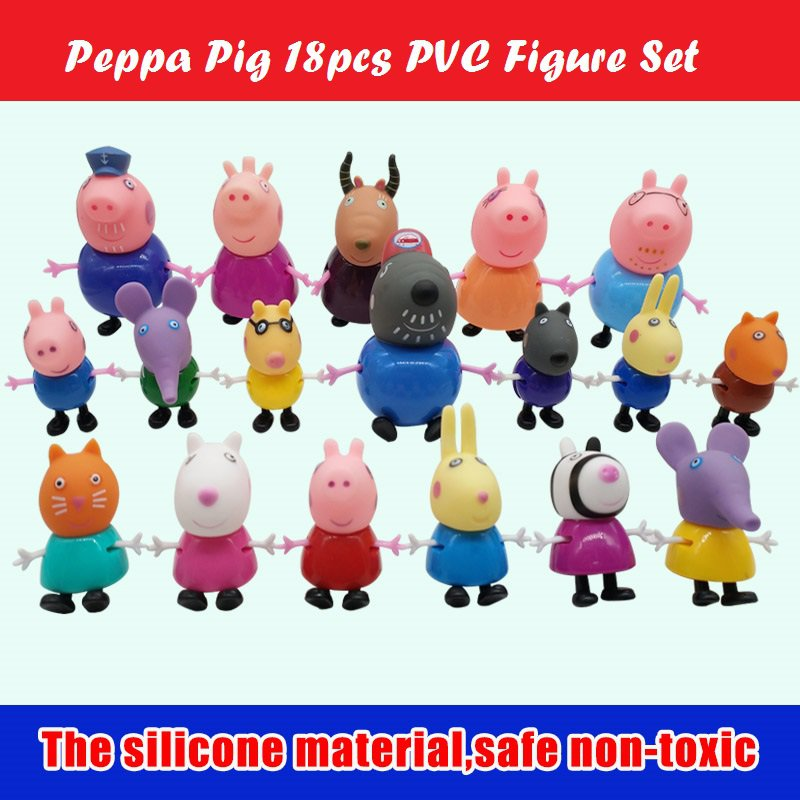 Peppa Pig 18 pcs PVC Figures Set