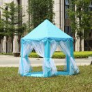 Princess Castle Play tent Portable Royal Fairy Theme Indoor Outdoor- Blue
