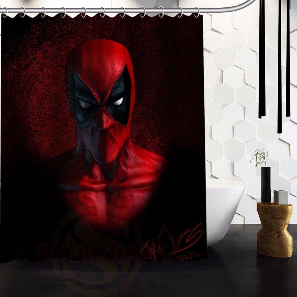 Deadpool Shower Curtain Series Hollywood Design Face