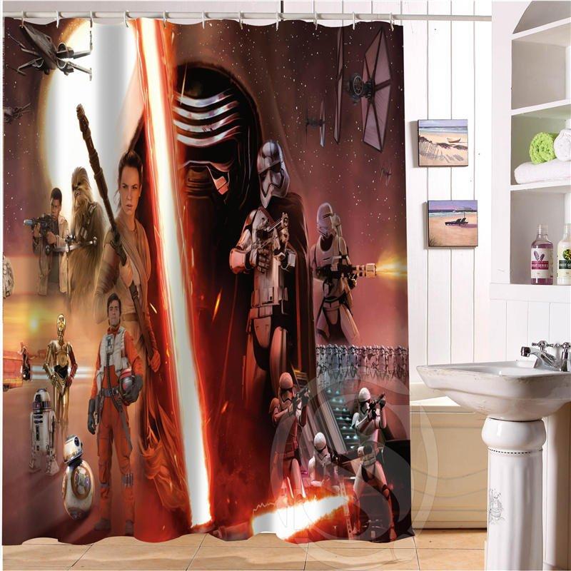 Star Wars Shower Curtain Series Hollywood Design Force Awakens Ren
