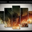 The Hobbit  and the Battle Movie 5pc Oil Painting Wall Decor  HD