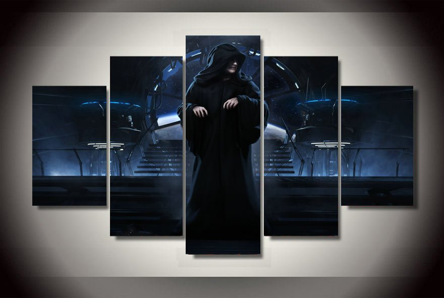 Star Wars Forced Unleashed  5pc Wall Decor Framed Oil Painting  HD