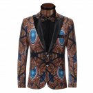 Mens Peacock Beauty Single Breasted Tuxedo Suit Jacket Coat
