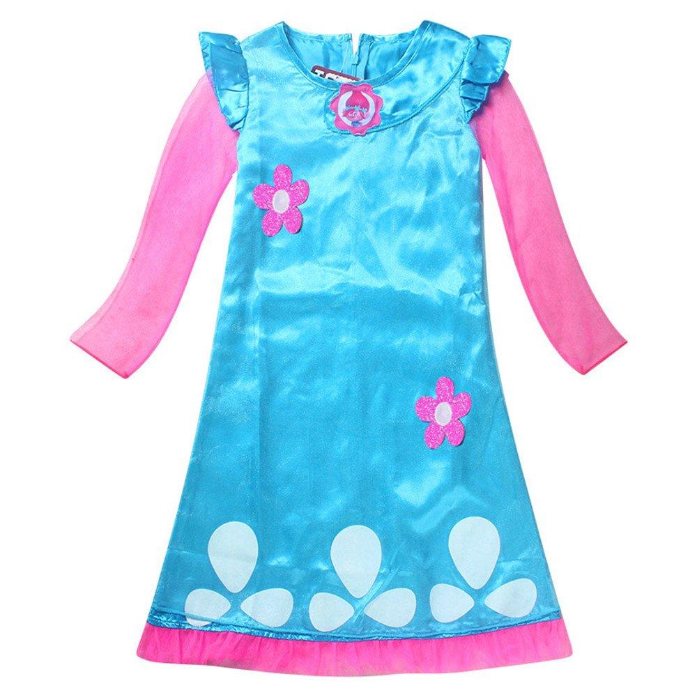 Trolls Dress  Girls Costume Super Cute Multiple Sizes