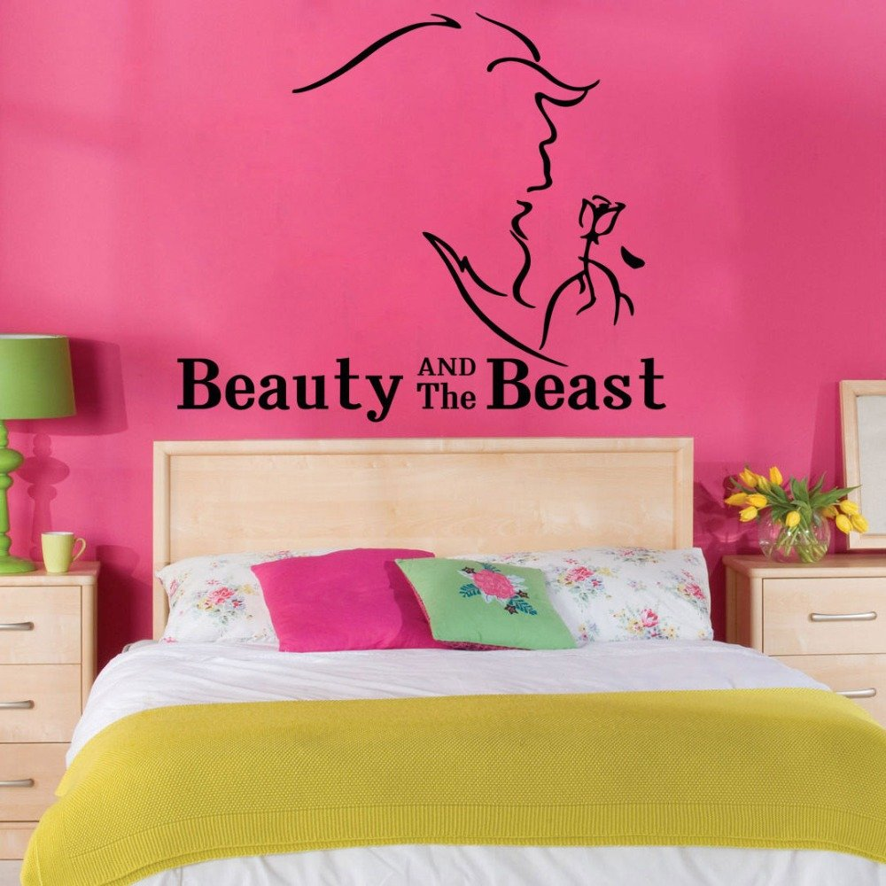 "Beauty and the Beast Wall Decal 22""x29"" Design Vinyl Disney"