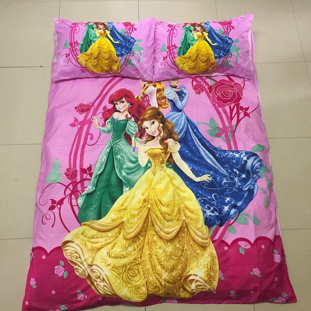 Disney Princess Girls Design Bedding Cover Set NEW - Twin Size 3pcs Sale