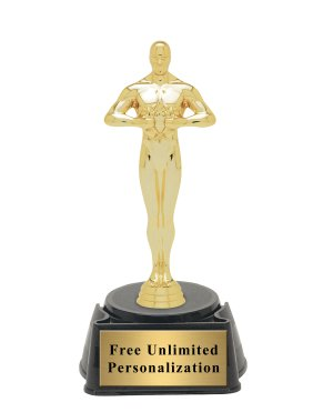 "Hollywood Golden Award Academy Statue Trophy - 8.25"" (Includes Engraving)"